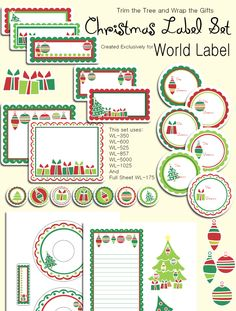 DIY FREE Christmas Labels ready to print. They are really adorable Christmas labels in printables templates by Tricia-Rennea from World Label