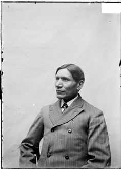Dr. Charles A. Eastman (1858-1939) was a Sioux and a graduate of Boston University School of Medicine. Early in his career he worked as a physician at the Pine Ridge Agency in South Dakota . In later years, he wrote several books about Native Americans, and he is believed to be the first American Indian author whose books were widely read. Three-quarter profile portrait of Dr. Charles Eastman, of the Native American tribe Wahpeton Dakota (Eastern Woodland Sioux name was Ohiyesa.