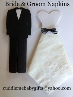Bride & Groom Paper Napkins by CuddleMeBabyGifts on Etsy, $4.00