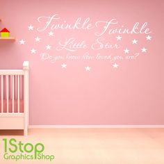 TWINKLE TWINKLE WALL STICKER QUOTE - BEDROOM NURSERY HOME WALL ART DECAL X311