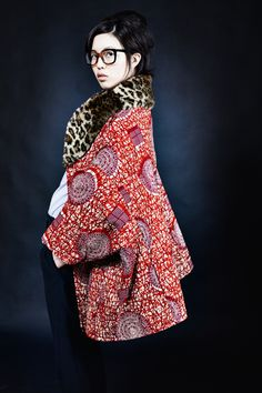 """i would totally call this style """"j. crew meets africa meets tartan"""", and i love it!  stella jean fall/winter 2012-13."""