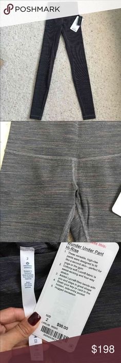 Lululemon wee are from space wunder under pant NWT! Lululemon wee are from space cocoa wunder under high rise, full length pant. rare!! Size 2, but I'm usually a 4 and these fit perfect. Soft cotton lion fabric. Brown/black. Lower on mèrc :) lululemon athletica Pants Leggings