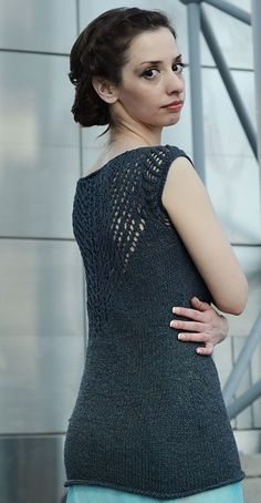 Free pattern: Icarus tank: Knitty Spring+Summer 2014 - super cute, but would make it shorter