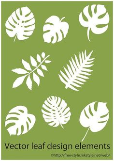 tropical leaf elements thumb 1620 Illustration of tropical leaf such as monstera (Ai) Free Style - - Diy Flowers, Fabric Flowers, Paper Flowers, Leaf Template, Flower Template, Leaf Stencil, Stencils, Diy And Crafts, Crafts For Kids