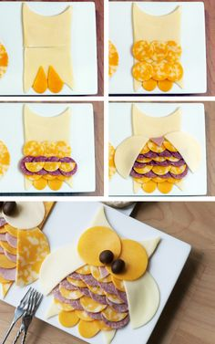 summer sausage and cheese in Owl design