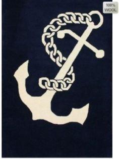 Nautical Rug| Anchor Rug