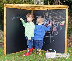 Is it a blackboard? Children will love sitting under here and mark making. The trellis roof makes it perfect for hanging words and letters from, or for planting sensory plants through. x Self assembly. Outdoor Learning Spaces, Kids Outdoor Play, Outdoor Play Areas, Backyard Play, Kids Play Area, Backyard For Kids, Outdoor Fun, Backyard Games, Outdoor Toys
