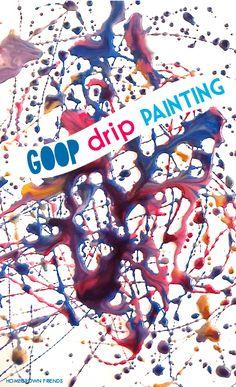 Goop Drip Sensory Painting