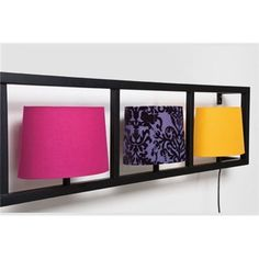 PARECCHI wall lamp with fabric shade and frame- Applique PARECCHI avec abat-jour en tissu et cadre PARECCHI wall lamp with fabric lampshade and Kare frame - Horizontal, Room Design, Lamp, Wall, Wall Lamp, Fabric Shades, Fabric Lampshade, Frame, Furniture Design