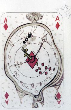 Artist: Salvador Dali; Title: Playing Cards - Ace Diamonds; Medium: Original Mixed Media: www.abstract-inc.net