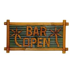 I pinned this Bar Open Garden Sign from the Design Bloggers Conference event at Joss and Main!
