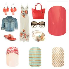Ready for spring break?  Coral, teal and gold. Jamberry Nails http://www.monicakulenovic.jamberrynails.net/