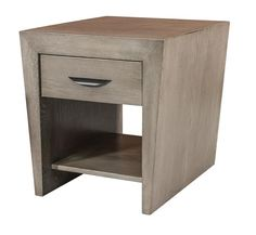 Amish North Avenue End Table Amish North Avenue End Table. Stunning contemporary table. With one lower shelf and top drawer. Adds balance to a living room display. #ContemporaryTables