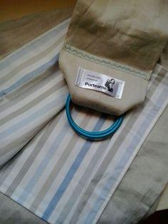 Beige (algodón y lino) + rayas
