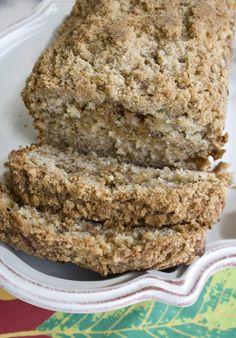 Cinnamon Streusel Banana Bread....looks like an awesome breakfast sweet!