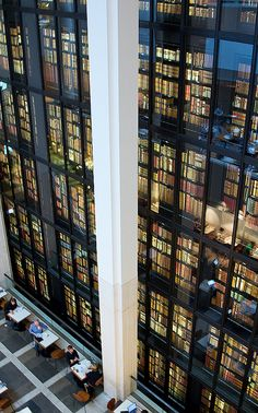 The King's Library, British Library, St Pancras, London by Chris John Beckett (And you thought NY was the biggest) :) Beautiful Library, Dream Library, Magic Places, British Library, Book Nooks, Oh The Places You'll Go, London England, England Uk, Britain