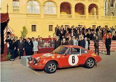 Rally Monte Carlo 1970. Porsche 911 S