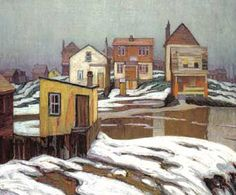 """""""January Thaw Edge of Town"""" by Lawren Harris"""