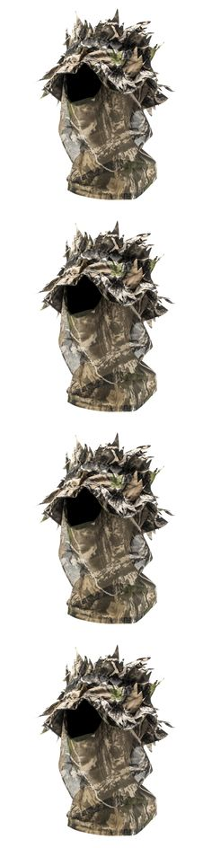 Hats and Headwear 159035: Camo Hunting Face Mask Leafy Outdoor Tactical Camouflage Hat Hood Headnet Full BUY IT NOW ONLY: $46.97