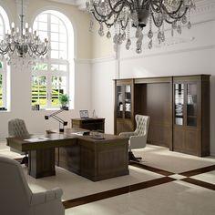 muebles clsicos de oficina de la serie artuluxe con acabados en madera natural diseados por