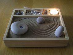 Simple, Homemade Zen Garden.  All supplies can be found at a local craft store. #ZenGarden