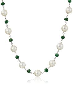 Sterling Silver 8-9mm White Cultured Freshwater Pearl and 4-5mm Link Strand Necklace, 18' >>> Insider's special review you can't miss. Read more  : trend jewelry 2016
