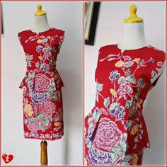 Dress Batik Modern Kombinasi Elegan