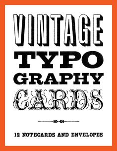 Buy Vintage Typography Cards online and save! Discovered in vintage typographic manuals, the specimens featured on these elegant note cards range from one-of-a-kind hand-drawn samples to classic f. Vintage Typography, Typography Fonts, Hand Lettering, E Design, Print Design, Graphic Design, Vintage Type, Stationery Set, Papers Co