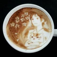 Japanese Cat Art | Catsparella: Incredible Cat Latte Art From Japan