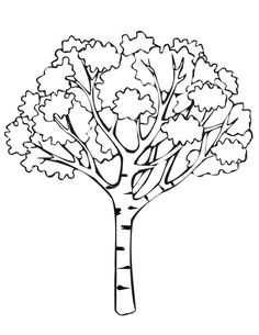 simple coloring pages Oak Tree clip art vector clip art online
