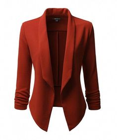 Women's Clothing, Suiting & Blazers, Blazers, Classic Draped Open Front Blazer For Women With Plus Size - - Source by kewearr clothes suit Suit Jackets For Women, Blazers For Women, Suits For Women, Clothes For Women, Work Clothes, Blazer Outfits, Blazer Fashion, Work Outfits, Casual Blazer