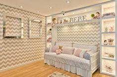 decoração quarto papel de parede cinza chevron - Pesquisa Google
