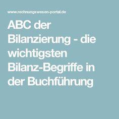 ABC der Bilanzierung - die wichtigsten Bilanz-Begriffe in der Buchführung