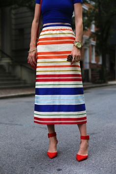 Summer Stripes ( T-Shirts & Skirts )