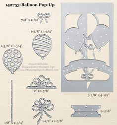 Stampin' Up! Balloon Pop-Up Thinlits sizes shared by Dawn Olchefske #dostamping