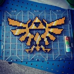 Triforce Zelda perler beads by thomasc0423