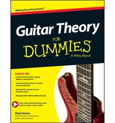 Serious about jamming, understanding, and creating guitar-driven music. Currently AUD$24.76 at BookDepository. Large format paperback book which would include a DVD. I don't want it as an E-Book if that is even available. I did see it at an ABC shop or bookshop at Penrith, eastern end of Westfield, for about $39.00. Guitar Theory For Dummies: Book + Online Video & Audio Instruction: Desi Serna: 9781118646779.