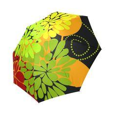 Autumn Harvest Cool Modern Floral Art Foldable Umbrella.