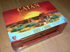 Catan 10th Anniversary 3D edition.  THis is one of my favorite special editions of Catan. It comes with really nice wooden treasure chest and 3D pieces for the base game and cities and knights. Incredible edition for any board game collection.  #boardgames #rareboardgames The Settlers of Catan 3D Collectors Edition