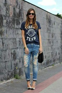 Fancy Black Shirt Outfits For Every Occasion – Trendy Fashion Ideas Outfit Jeans, Black Shirt Outfits, Jean Outfits, Sport Outfits, Casual Outfits, Summer Outfits, Casual Wear, Fashion Mode, Trendy Fashion