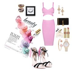 """""""Girly girl"""" by ginabanks on Polyvore featuring Michael Kors, Sophia Webster, Marc Jacobs, Yves Saint Laurent, NARS Cosmetics, Giorgio Armani and Oscar de la Renta"""
