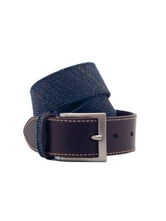 Ertl & Cohn. Tweed belt. Blue.  #Fashion #Men #Belt