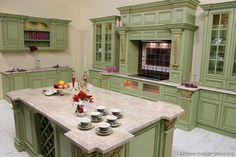 Sage Green Kitchen Cabinets Image-165