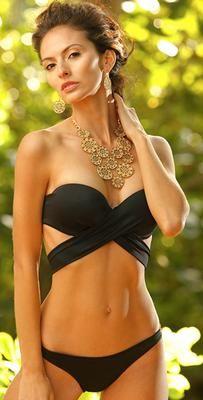 Peixoto 2015 Bella Black Wrap Bikini