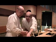 The oldest 3 Michelin star chef in the world, Jiro Ono, makes sushi with his son Yoshikazu Ono in their Sukiyabashi Jiro Honten restaurant in Ginza, Tokyo. Read and see much more at wbpstars.com