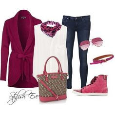 Jean Outfits for Women by Stylish Eve  spring collection #2dayslook #spring of collection #alex2578923  www.2dayslook.com