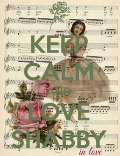 I just could not resist this old music, vintage frock, and pink roses is a great start of shabbiy chic