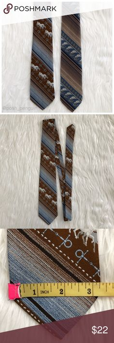 Lot of 2 Men's Tex Hipster Cowboy Tan Neckties Lot of 2 Men's Tex Hipster Cowboy Tan Neckties.  Cowboy Hat Horseshoe Horse Equestrian prints. Very good used condition. No rips stains or flaws. Photos are best descriptors of all my items. Accessories Ties