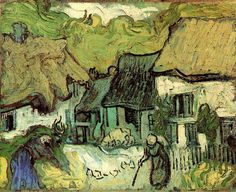 Vincent van Gogh. Thatched Cottages in Jorgus | Flickr - Photo Sharing!