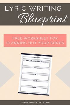 525 best songwriting images on pinterest in 2018 music writing lyric writing blueprint worksheet modern songstress blog malvernweather